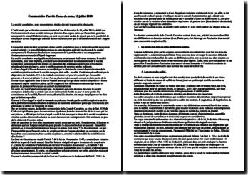 L'exclusion réputée arbitraire et abusive, commentaire d'arrêt, chambre commerciale, Cour de Cassation, 13 juillet 2010