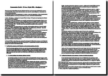 Liberté du commerce et de l'industrie, arrêt « Daudignac », commentaire d'arrêt, Conseil d'État, 22 juin 1951