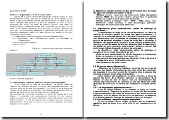La fonction achat - structure et procédures