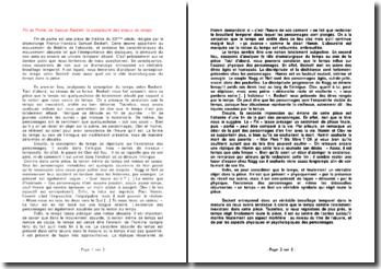 Fin de Partie, de Samuel Beckett: la complexité des enjeux du temps