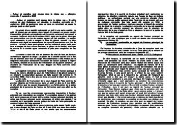 « Auteur et complice sont cousus dans le même sac », chambre criminelle, 7 septembre 2005