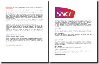 Présentation du groupe SNCF: bilan de son marché au national et à l'international