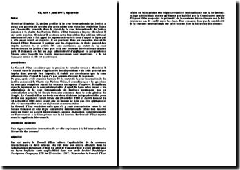 CE, ASS 6 juin 1997, Aquarone