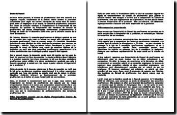 Controverses jurisprudentielles, commentaire d'arrêt, chambre sociale de la Cour de cassation, 19 décembre 2003