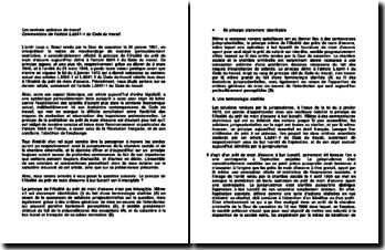Les contrats spéciaux de travail, arrêt Loup c. Boeuf, Cour de cassation, le 31 janvier 1901