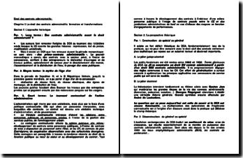 Droit des contrats administratifs - approche historique et perspectives théoriques, conciliation, transaction et arbitrage des contentieux