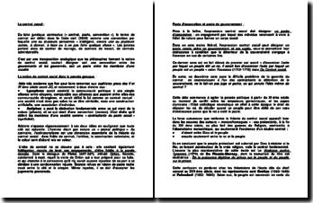 Le contrat social - convention entre les gouvernants et les gouvernés ou pacte entre les membres d'une société