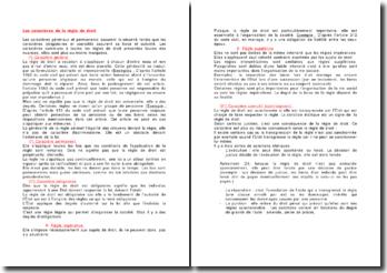 Les caractères de la règle de droit - généralités et nuances