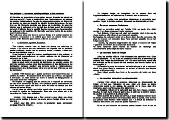 Le contrat synallagmatique à titre onéreux