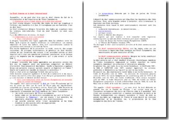 Le Droit interne et le droit international