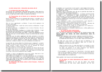 Le droit textuel (loi) : hiérarchie des textes de loi