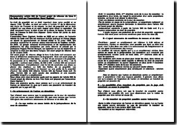 Commentaire article 539 de l'avant-projet de réforme du Livre II du Code civil par l'association Henri Capitant