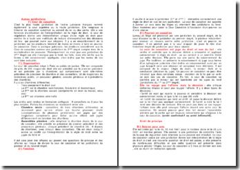 Autres juridictions: Cour de cassation