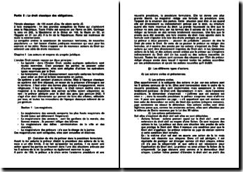 Histoire du droit classique des obligations