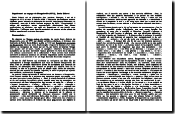 Supplément au voyage de Bougainville (1772), Denis Diderot