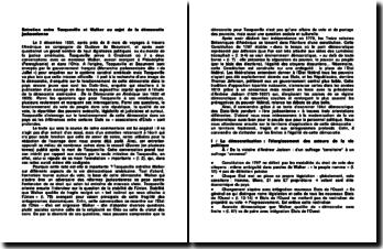 Entretien entre Tocqueville et Walker au sujet de la démocratie jacksonienne