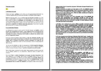 La protection sociale - État providence et contraintes en France