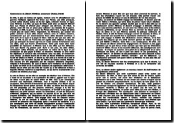 Commentaire du Décret d'Athènes concernant Chalcis (446/5)