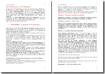 La Vème République en droit constitutionnel