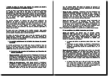 Licéité et mise en oeuvre des clauses du contrat de travail : pouvoir de l'employeur et contrôle du juge