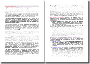 Introduction générale aux relations internationales