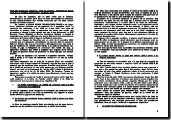 Droit des procédures collectives, Cour de cassation, commentaire d'arrêt rendu par la chambre commerciale, 12 janvier 2010
