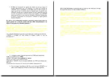 Etude d'un cas pratique sur l'affiliation au régime général de la sécurité sociale par l'urssaf et le problème de la rétroactivité