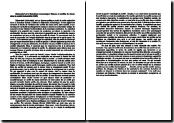 Dahrendorf et le libéralisme économique: Classes et conflits de classe dans la société industrielle (1957)