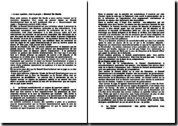 « La cour suprême, c'est le peuple », Général De Gaulle