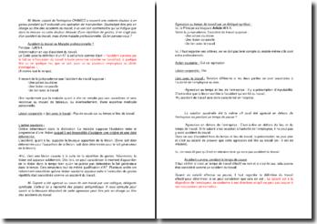 Etude de cas pratique sur la qualification d'accident du travail en droit de la sécurité sociale