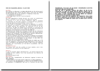 Arrêt de l'assemblée plénière 15 avril 1998