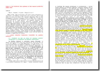 Les mutations des systèmes et des espaces productifs (début XXe)