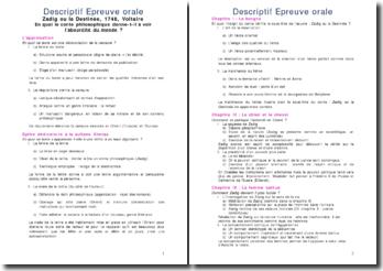 Plans de lectures analytiques pour le bac de français série économique et sociale