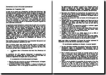 Constitution des Etats-Unis du 17 septembre 1787