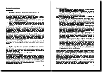 Contrats Internationaux