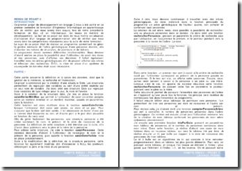 Projet de développement en langage C