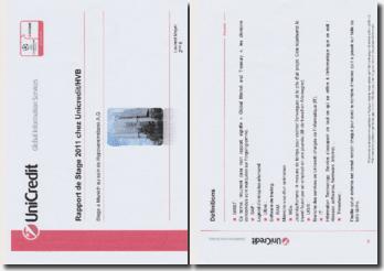 Rapport de stage effectué à Munich au sein de Hypovereinsbank A.G