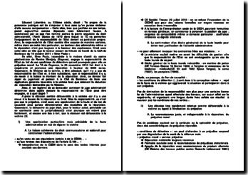 L'engagement de la responsabilité de l'Etat , commentaire d'arrêt, CAA de Bordeaux, 18 octobre 2011