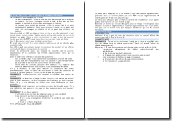 Le contentieux des contrats administratifs - recours pour excès de pouvoir et recours de plein contentieux