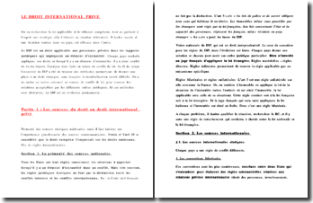 Le droit international privé: un droit applicable aux personnes privées dans les rapports juridiques qui impliquent un élément d'extranéité