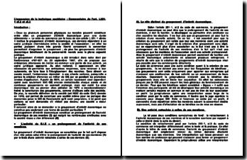L'expansion de la technique sociétaire : commentaire de l'art. L251-1 al.2 et al.3
