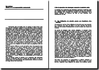 Une étude de cas pratique sur la responsabilité contractuelle