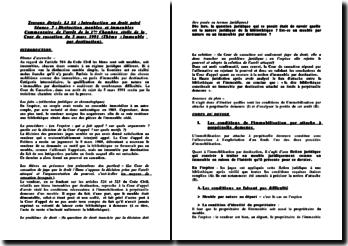 Distinction meubles et immeubles: commentaire de l'arrêt de la 1ère Chambre civile de la Cour de cassation du 5 mars 1991