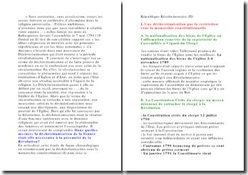 La déchristiannisation de la France sous la révolution