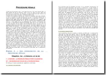 La procédure pénale - fondements, acteurs et phases