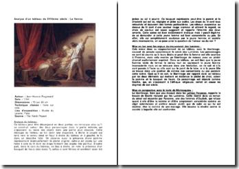 Analyse d'un tableau du XVIIIème siècle : Le Verrou