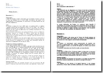 Etude de 14 fiches d'arrêt de droit civil sur la responsabilité du fait personnel et sur la responsabilité des parents du fait de leur enfant mineur