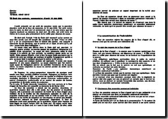 Commentaire d'arrêt rendu par la Première chambre civile de la Cour de cassation en date du 13 juin 2006 : la nullité pour absence de cause