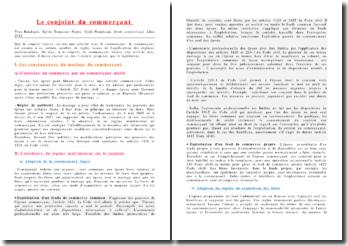 Yves Reinhard, Sylvie Tomasset-Pierre, Cyril Nourissat, Droit commercial: le conjoint du commerçant