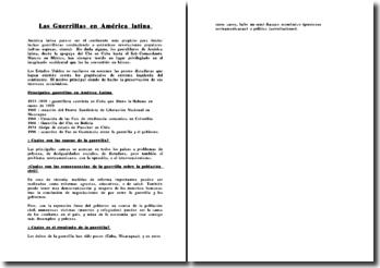Las Guerrillas en América latina